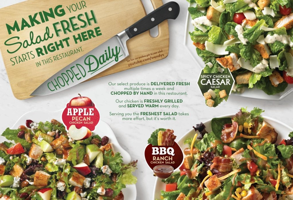 Salad advertising