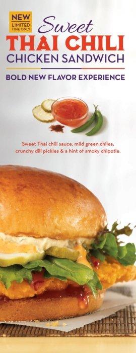 Sweet Thai chili chicken sandwich