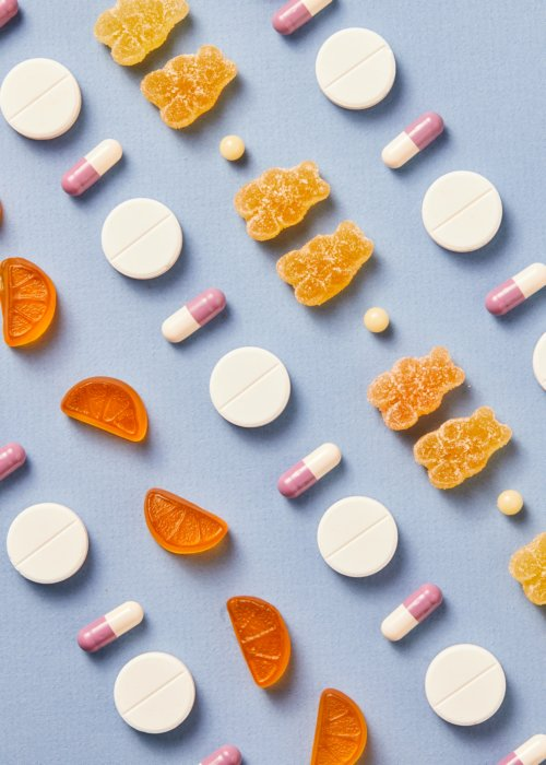 rows of different pills Healthcare photography