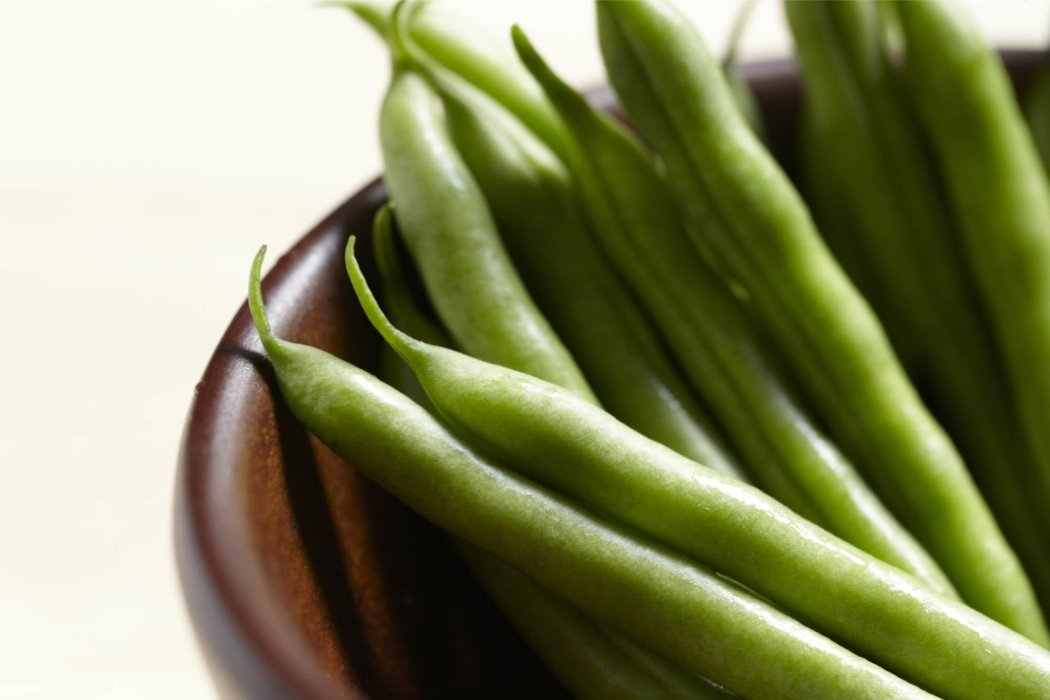 Food photography Green beans in a bowl
