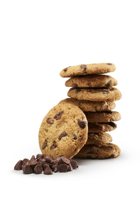 Dessert photography - chocolate chips cookies stack