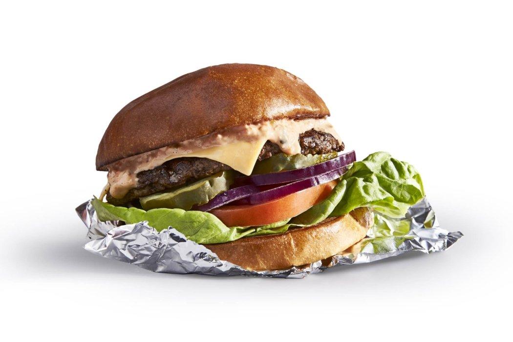 Food photography - A down and dirty cheese burger on white Original Mug Burger