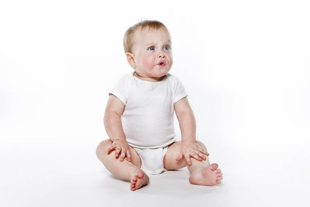 Portrait of a baby on white