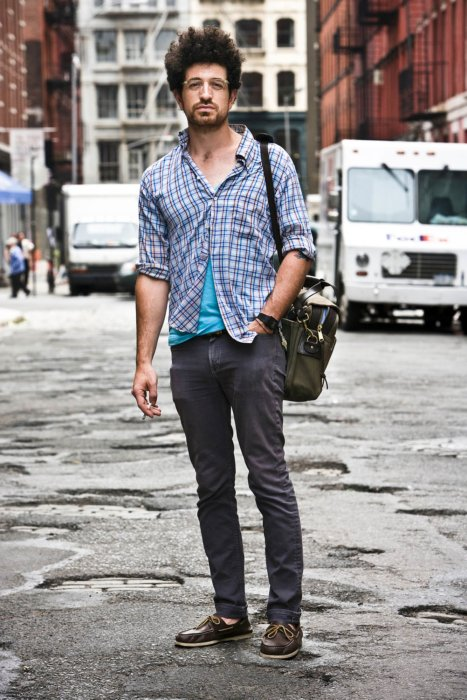 Portrait of a hipster on the streets of new york