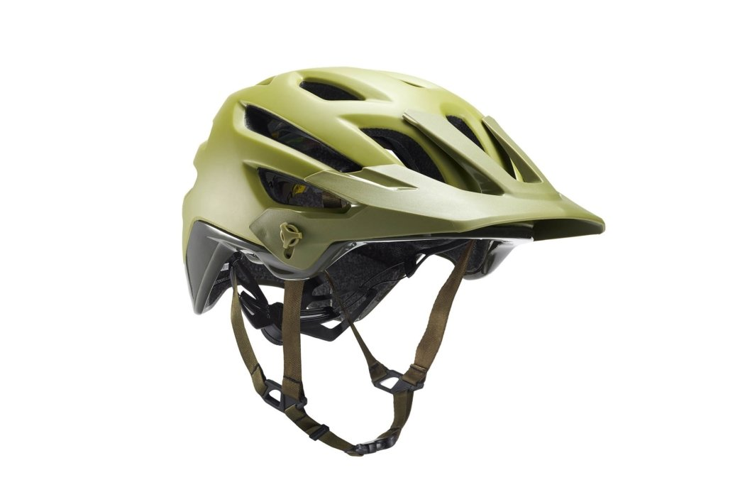 Product photography - green bike helmet with BOA closure system