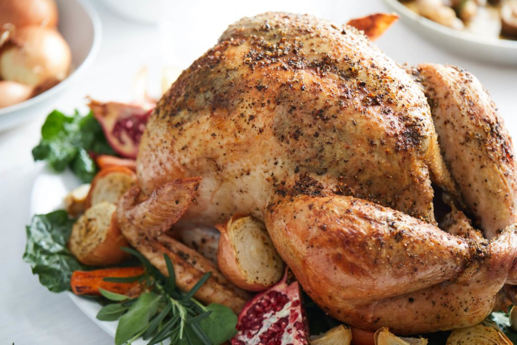 Chicken roasted and prepared - food styling