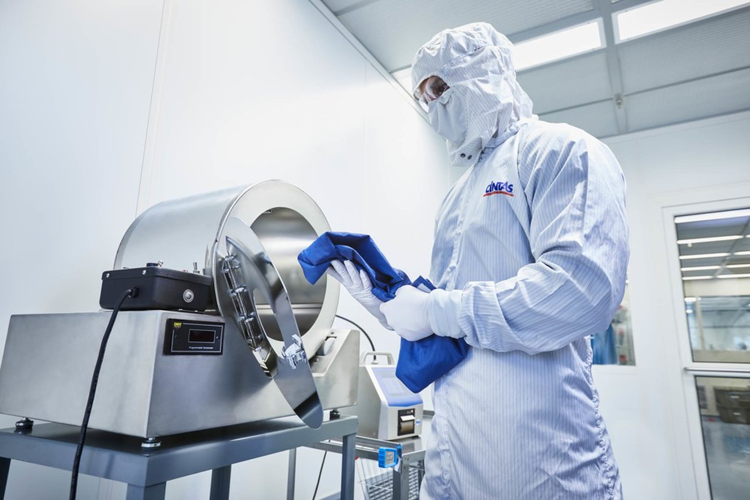A man in sterile environment - work apparel photography