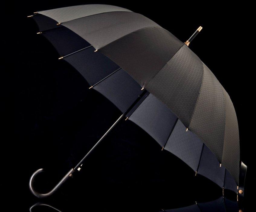 Photo of a whole black umbrella - totes- Product Photography