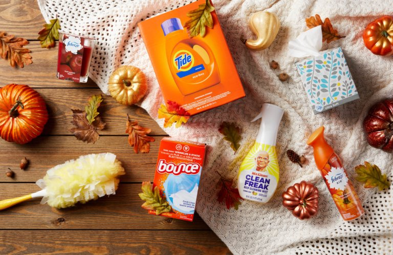 Autumn themed P&G Products - - product photography
