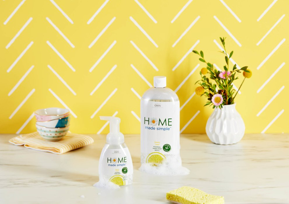 home made simple lemon products on yellow
