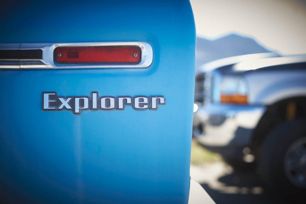 A vintage explorer SUV