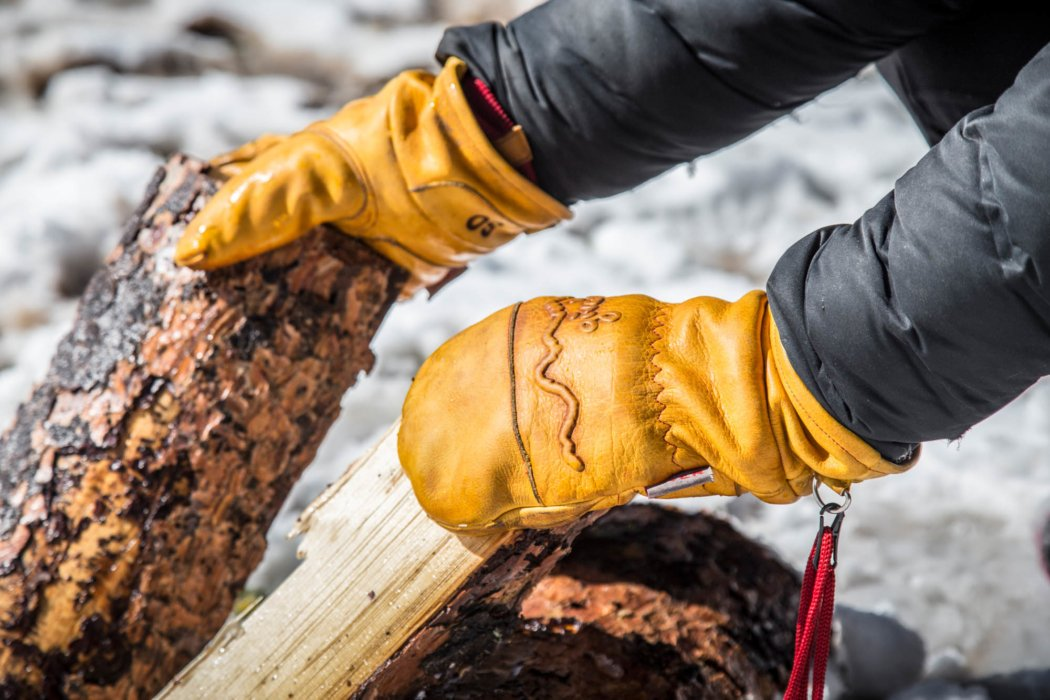 A pair of outdoor work gloves