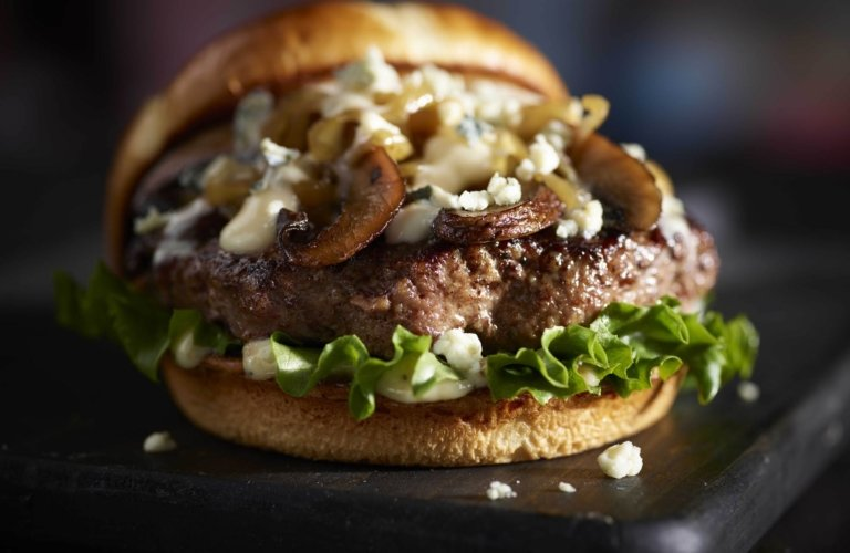 Mushroom blue cheese burger for red robin
