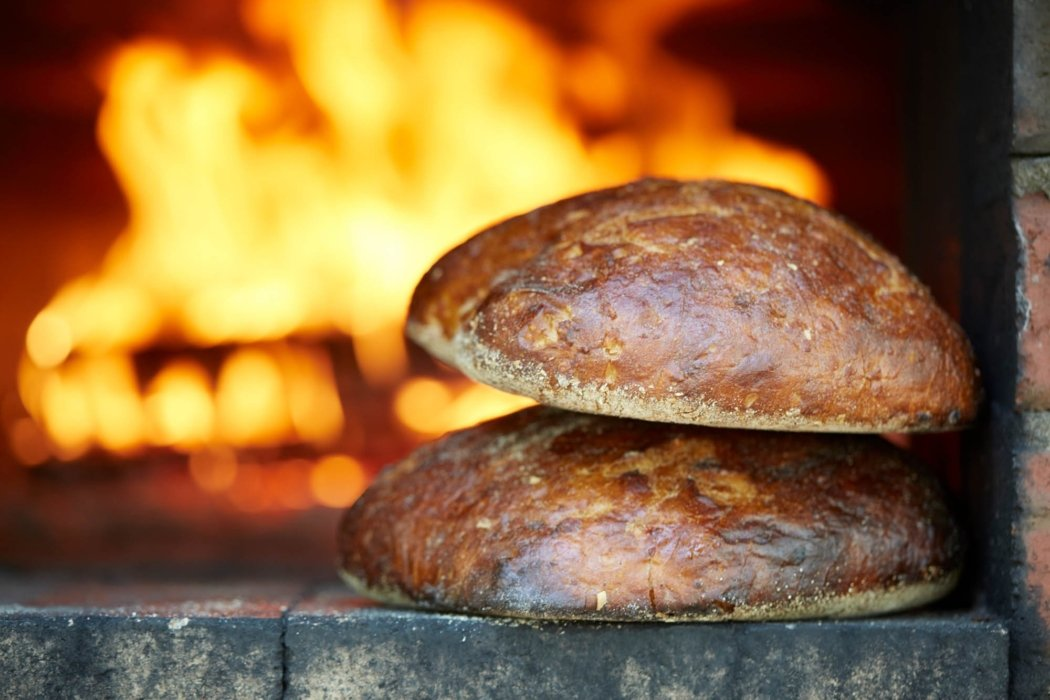 oven brick baked food bread outside