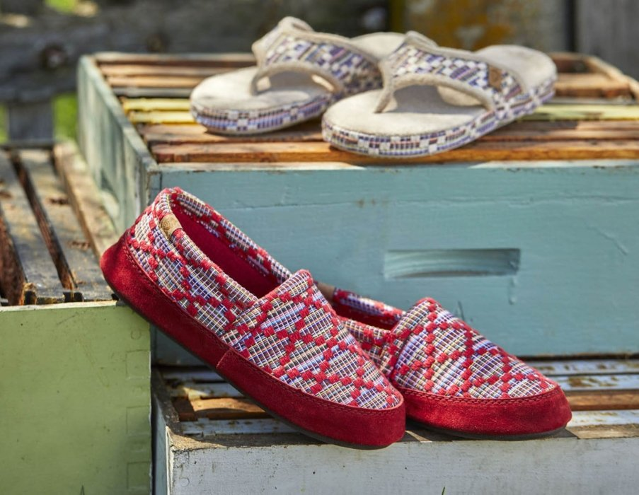 shoes on a wooden area - lifestyle product photography