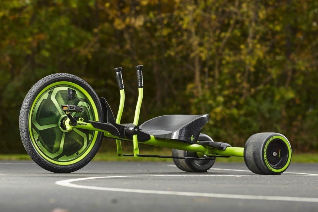 outside green and black machine sport bikes