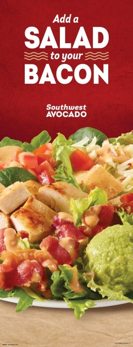 Wendy's Salad to your bacon salad - Food Photography