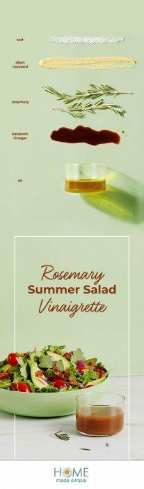 Rosemary Summer Salad Vinagrette - food photography