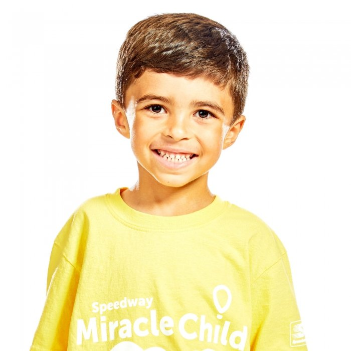 Portrait of a young boy for a charity event