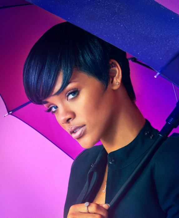 Portrait of Rihanna with Umbrella - portrait photography