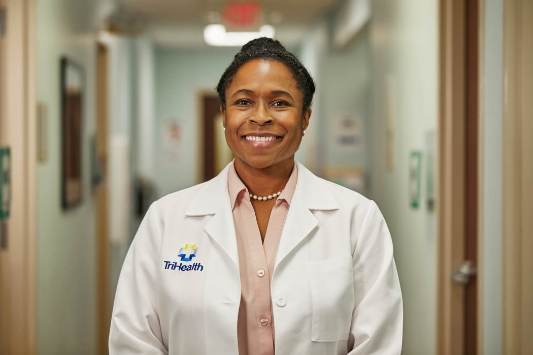 Portrait of a female doctor in a hospital - healthcare portrait photography