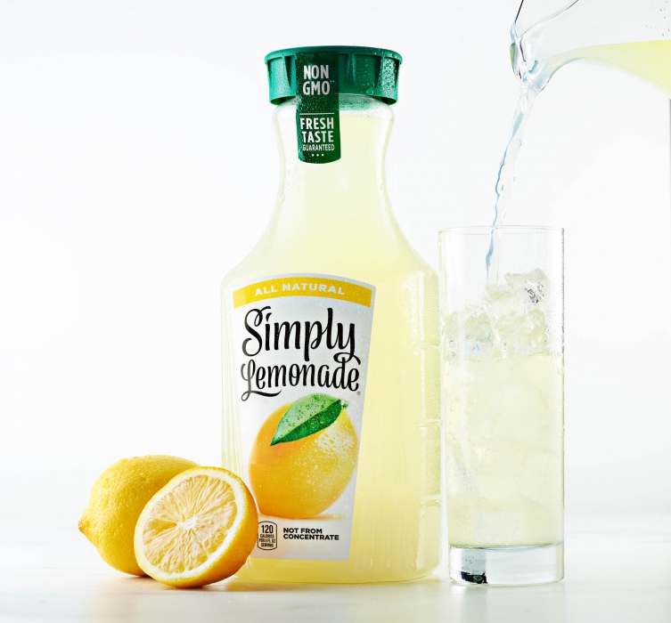 Simply lemonade product and drink photography