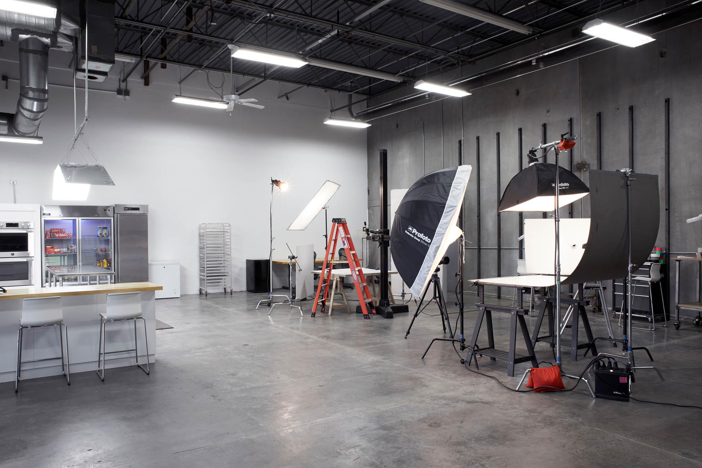 An active photo shooting studio - OMS Photo's Golden Colorado photo studio