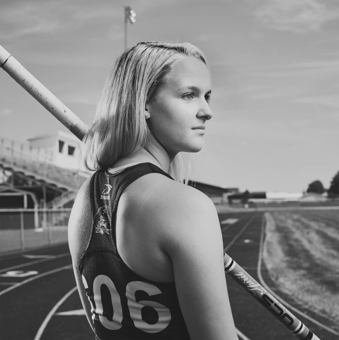 Portrait of a young woman athlete - portrait photography
