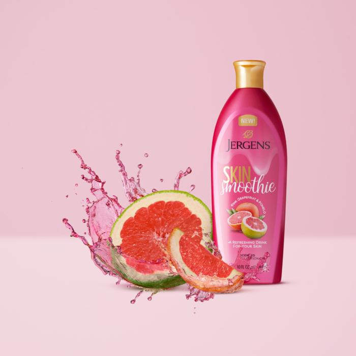zJergens Skin Smoothie Pomelo and Grapefruit - Splash Product Photography