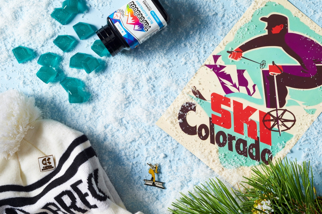 Tastebuds CBD Cannabis Gummies with ski - CBD and Cannabis Photography