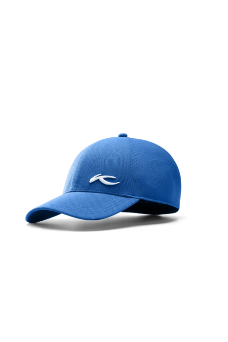 ecommercere - blue textured kjus hat on white - product photography