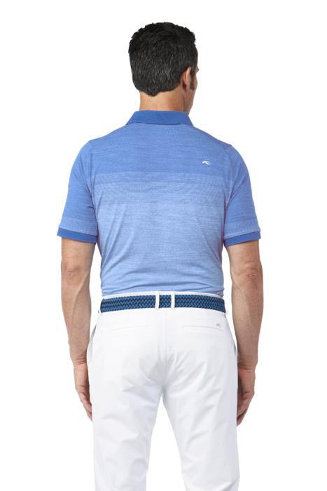 Golf Apparel Mens Blue Shirt On Male Model Back - Ecommerce Photography