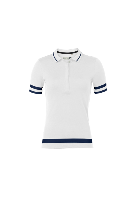 ecommercere - white and blue female shirt kjus on white FRONT - product photography