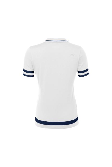 ecommercere - white and blue female shirt kjus on white BACK - product photography