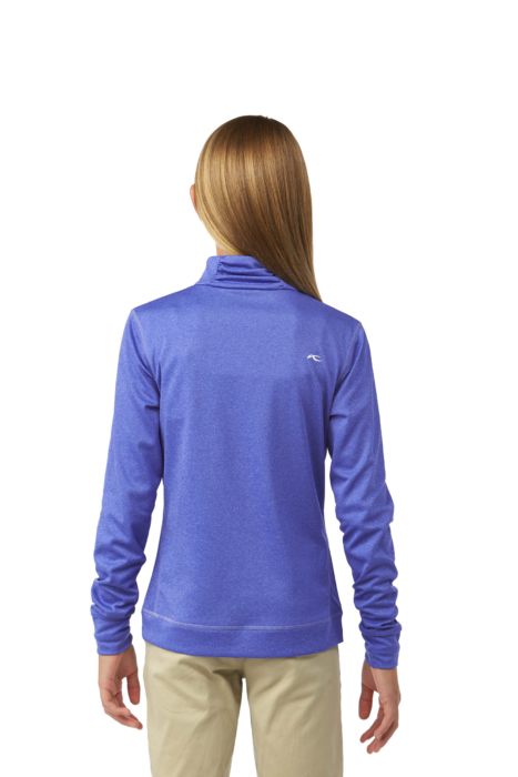 ecommercere -purple girls shirt kjus on white on model BACK - product photography