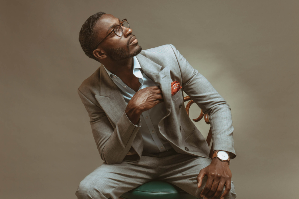 Portrait of a man wearing fashion suit looking cool - - modern photography - portrait photographer
