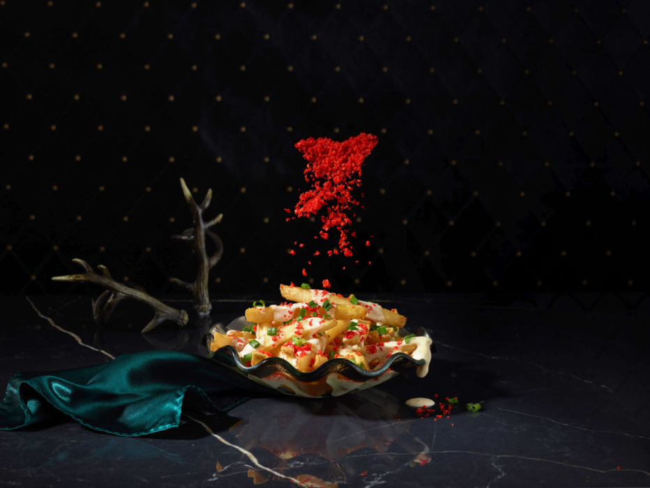 A colorful and spooky set of fries and spices - Cincinnati food photographer