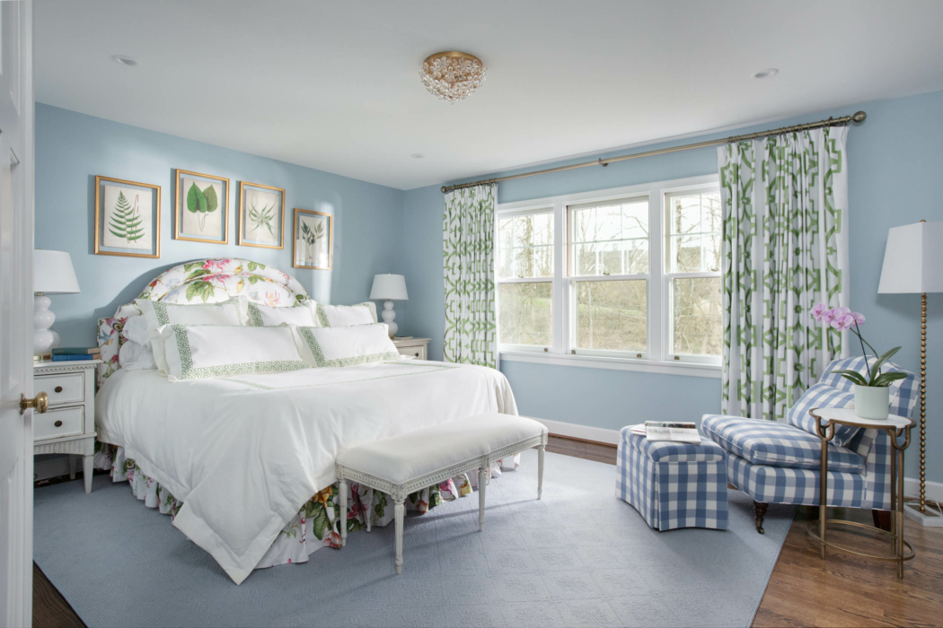 Architecture Interior photography - bedroom modern blue
