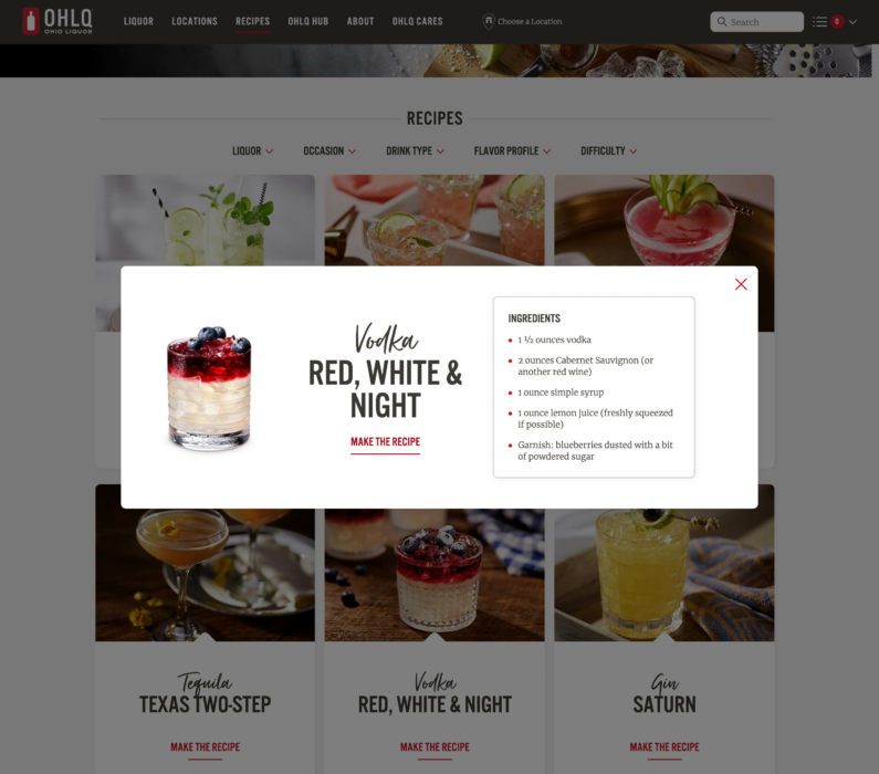 Drink photography - Cocktail Photography, Red White & Night