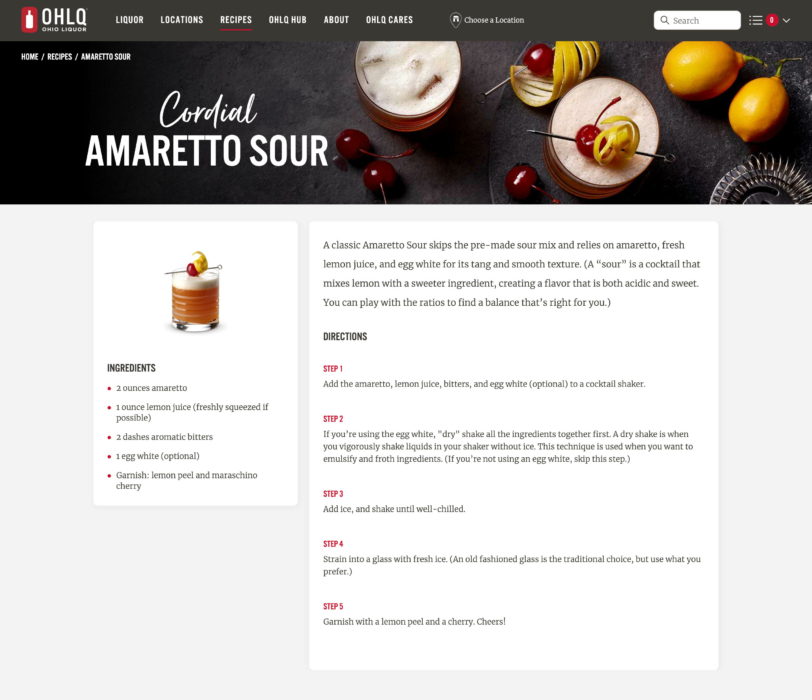 Drink photography - Cocktail Photography Amaretto Sour 1