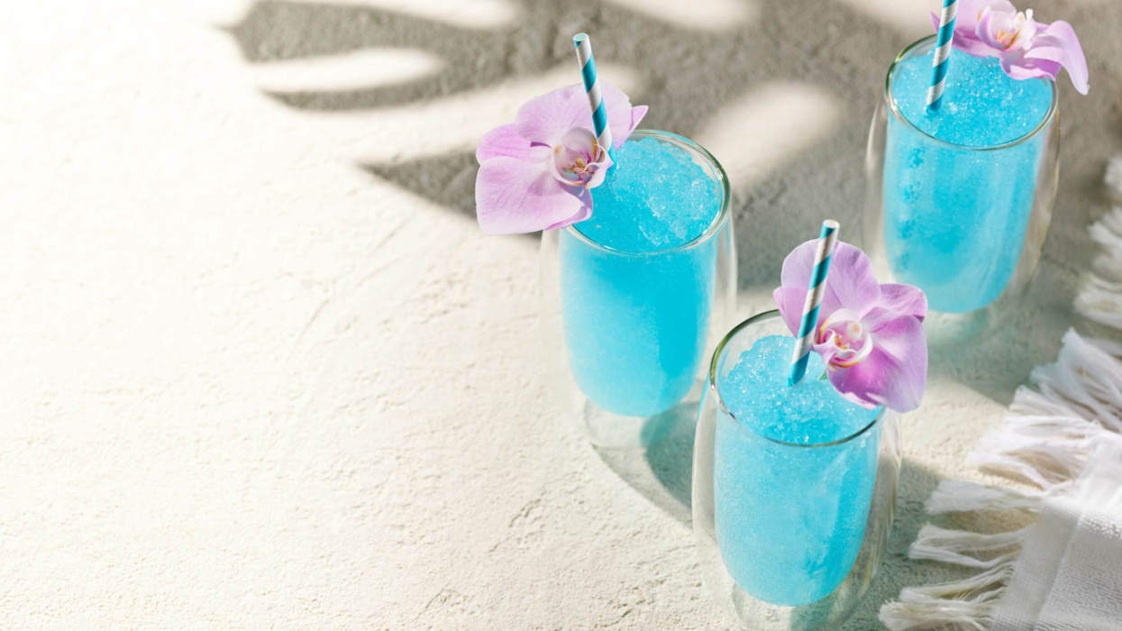 Drink photography - cocktails - Blue Hawaiian - orchid 4