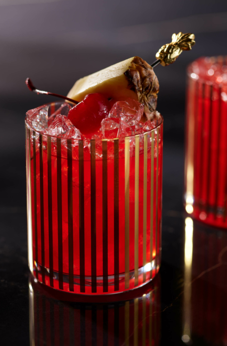 Drink photography, cocktails, Jungle Bird on marble 1