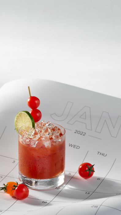 Drink photography, cocktails, Michelada, The New Year