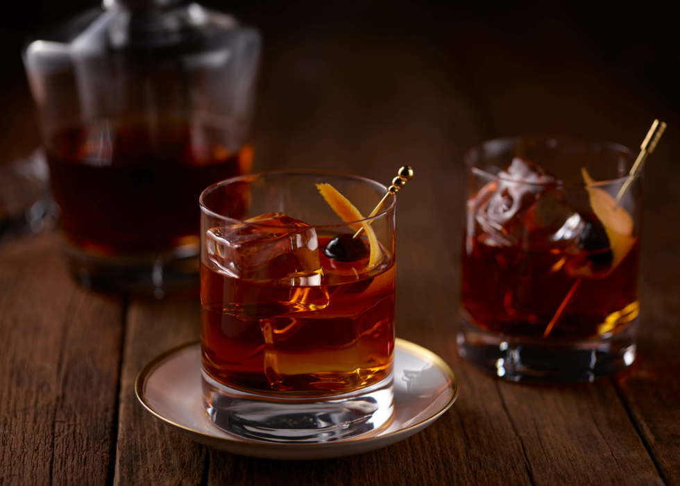 Drink photography, cocktails, Old Fashioned, lifestyle Desktop