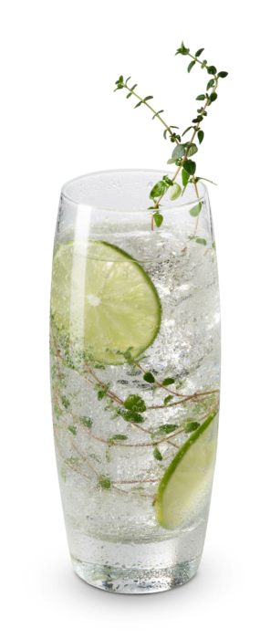 cocktail photography fGin and Tonic white background 2