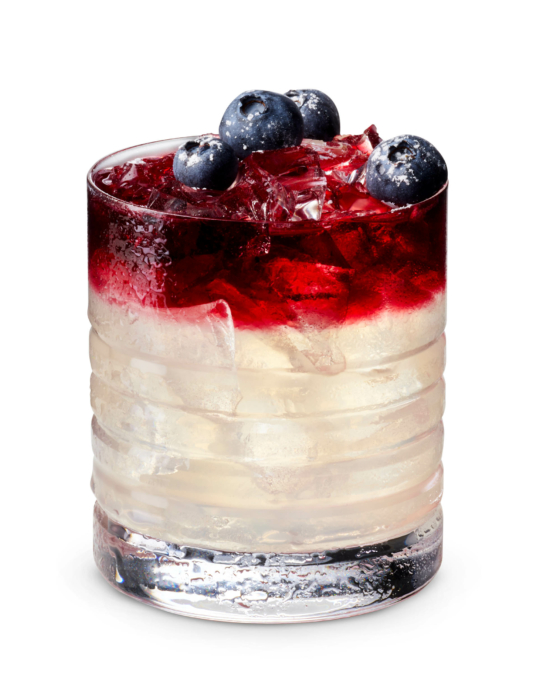red white cocktail photo with blueberries - shot 4