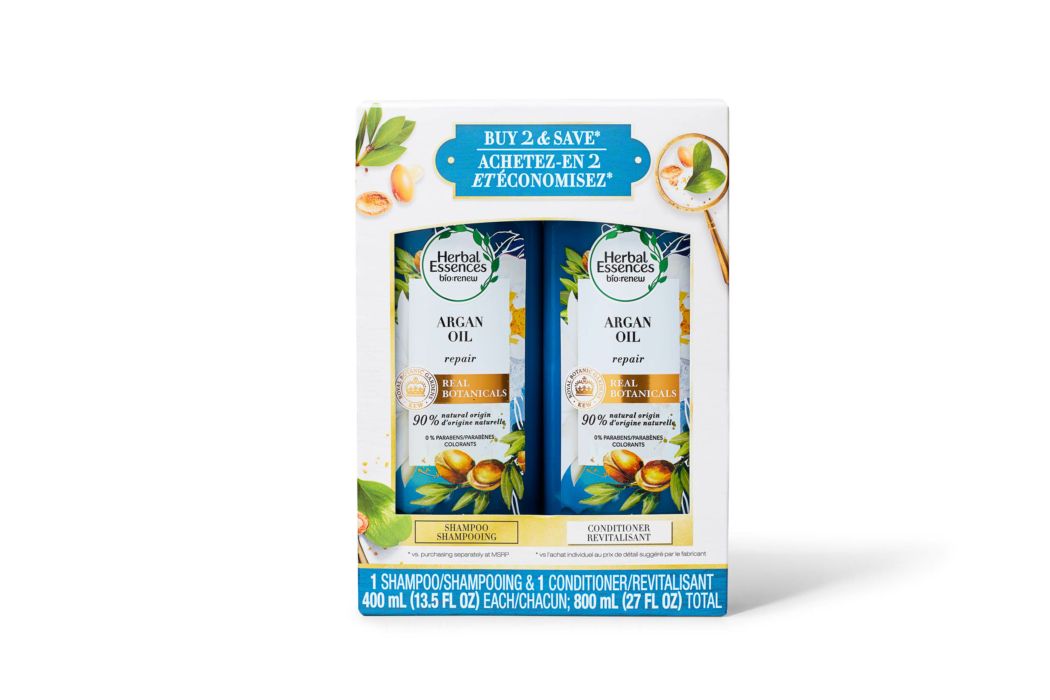 Product Photography - Herbal Essences-Argan Oil - Repair - Shampoo and Conditioner