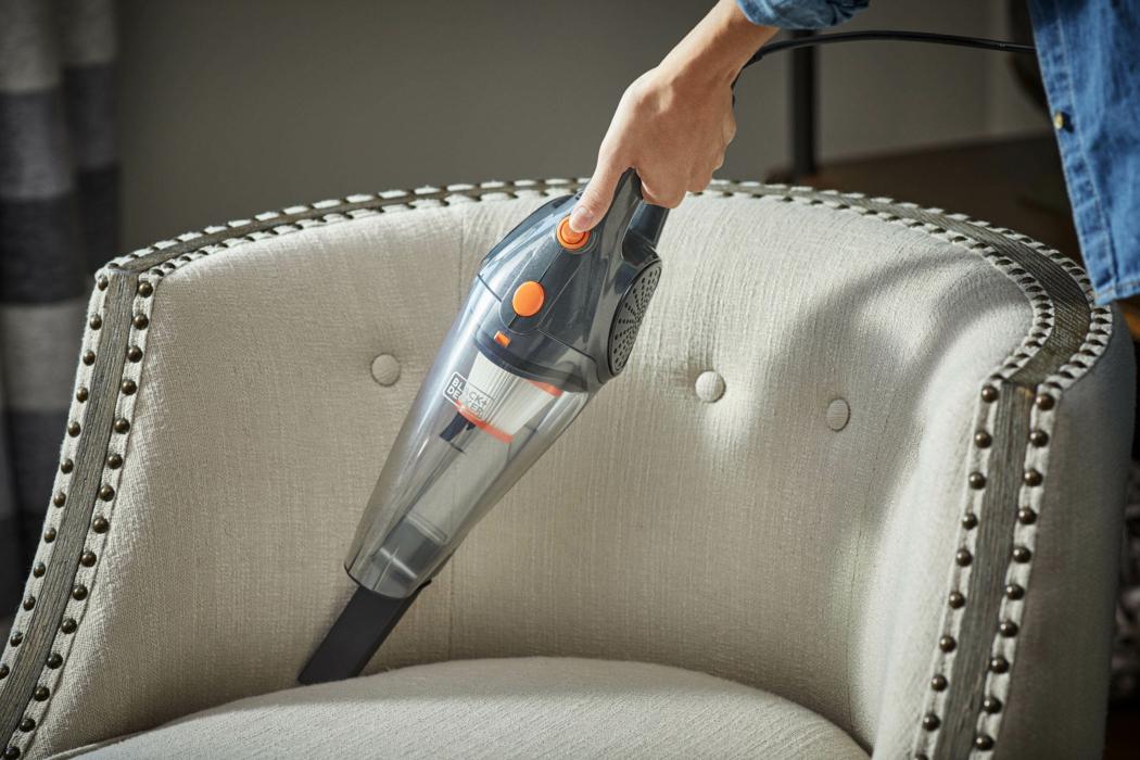 Product Photography, Black & Decker, hand held vacuum, furniture