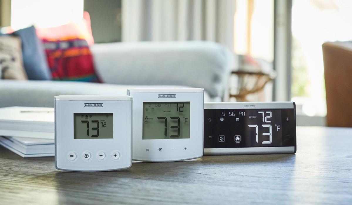 Product Photography, Black & Decker, Smart Thermostat, alarm clock