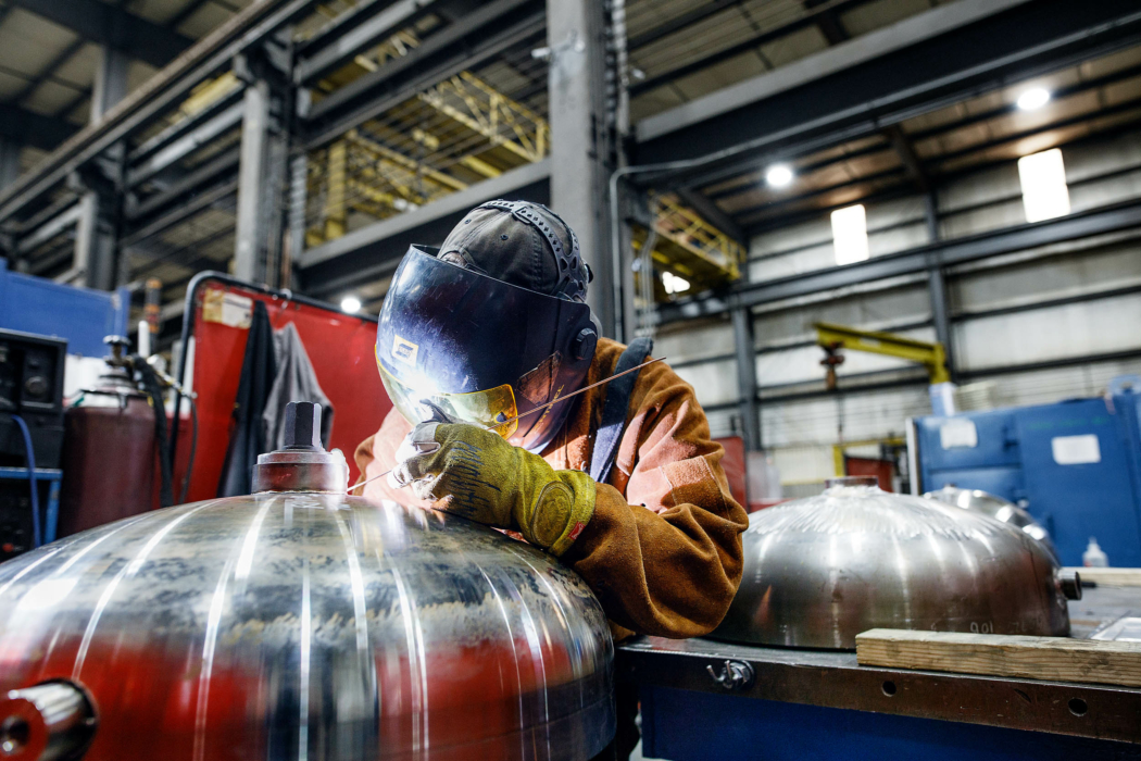 Industrial Photography worker weld 1